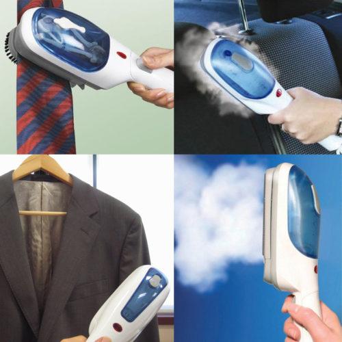 Использование ручного отпаривателя для одежды