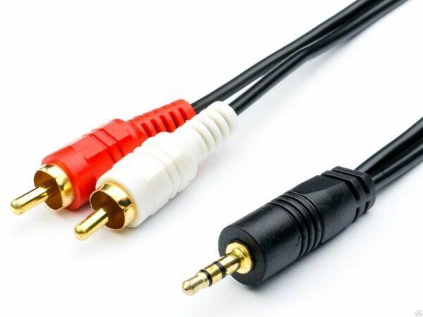 кабель mini-jack – 2RCA