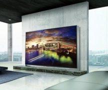 Современный телевизор на стене