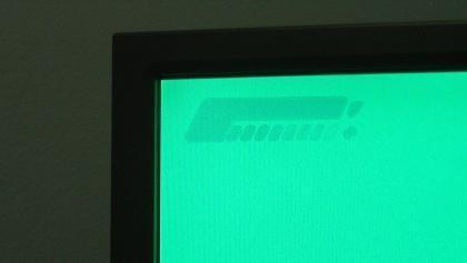 остаточное изображение на экране