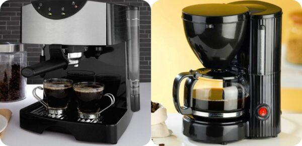 рожковая и капельная кофеварка