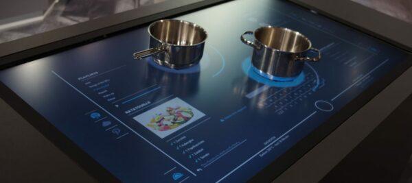 индукционная плита с экраном