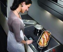 Индукционная плита в работе