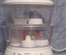 Стерилизация детских бутылочек в пароварке