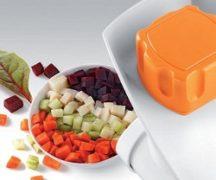 Нарезка овощей кубиками на кухонном комбайне