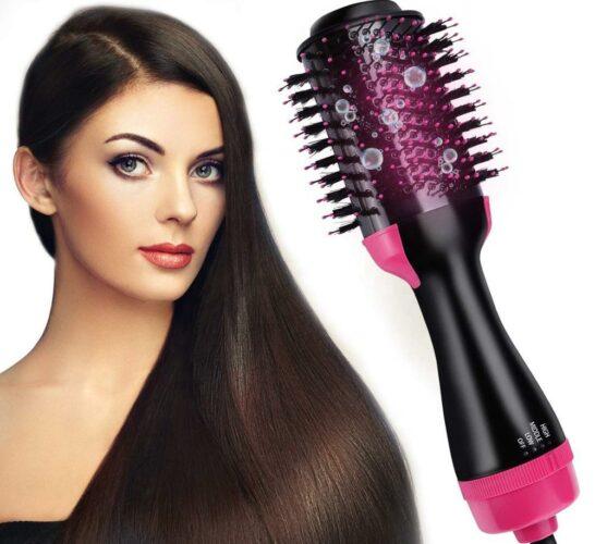 фен щетка красивые блестящие волосы