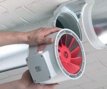 Монтаж канального вентилятора