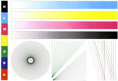 Пробная страница цветного принтера