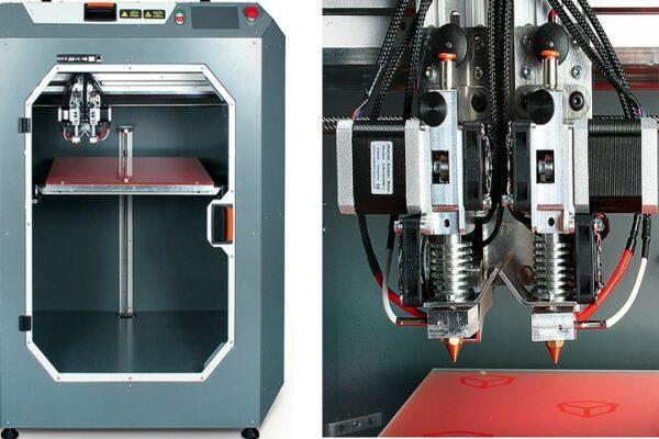 3Д принтер с 2-мя экструдерами