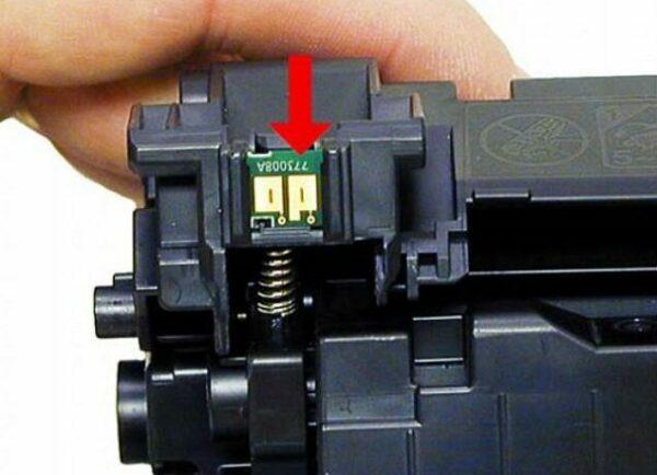 чип на картридже