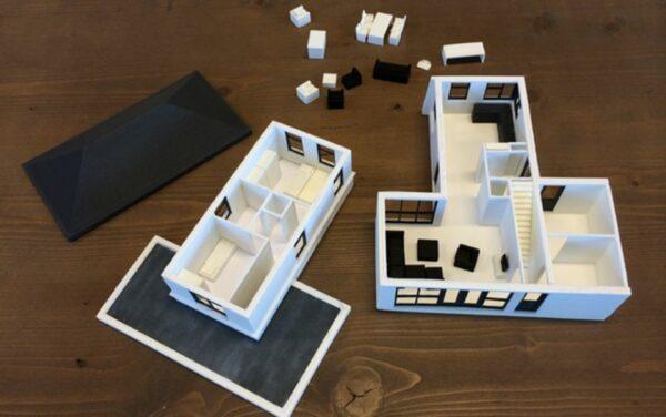 макет квартиры на 3д принтере
