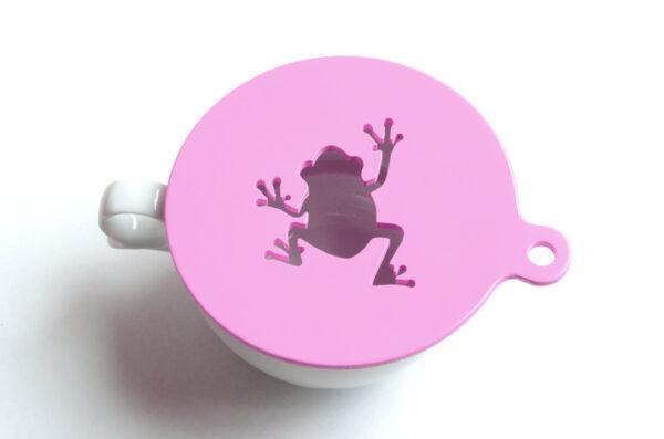 трафарет для кофе лягушка