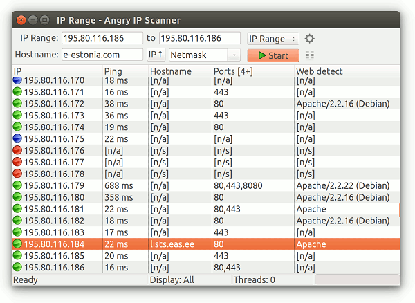 Программа Angry Ip Scanner