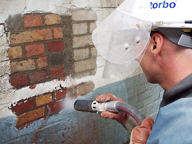 Пескоструй по бетону