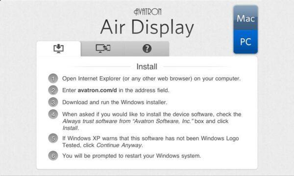 приложение AirDisplay
