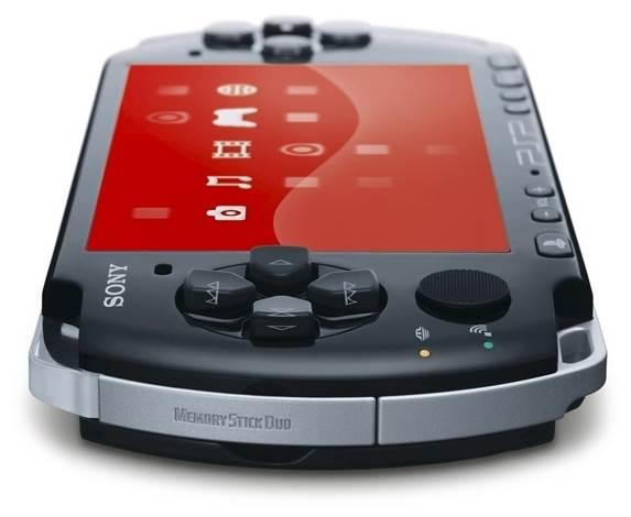 Sony PlayStation Portable Slim & Lite PSP-3000, red,