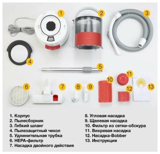 Xiaomi Deerma Vacuum Cleaner TJ200/210, белый