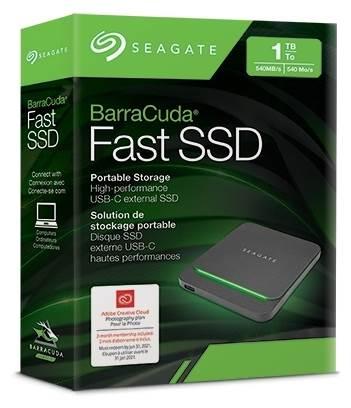 SSD Seagate BarraCuda Fast SSD 1 ТБ, черный