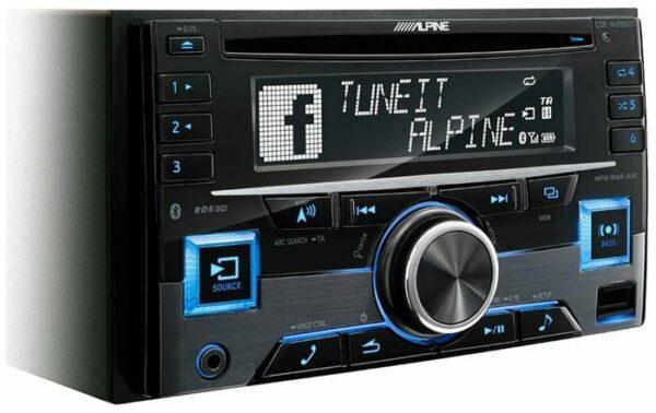 Alpine CDE-W296BT, черный