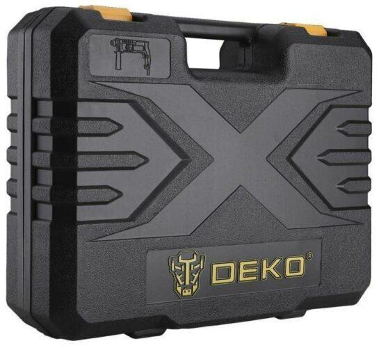 DEKO DKH850W в кейсе с набором из 5 буров SDS+, 850 Вт