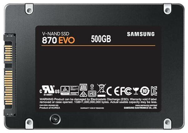 Samsung 870 EVO 500 GB MZ-77E500BW